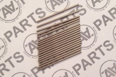 Microtubo per il fissaggio sartie all'albero in acciaio inossidabile Ø interno 0,65 mm L 25 mm