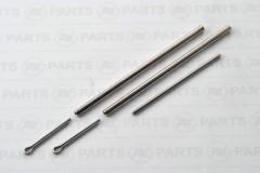 Crocette cilindriche acciaio inossidabile - tubo 3x2mm