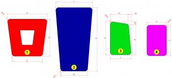 Deck patch dacron colorato - 110 g/m (3,8 oz) pretagliate e pronte per il montaggio
