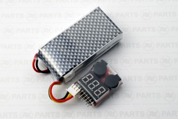 Tester batteria con allarme