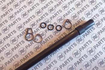 Kit completo boma di randa Ø12mm - carbonio alto modulo profilo cilindrico